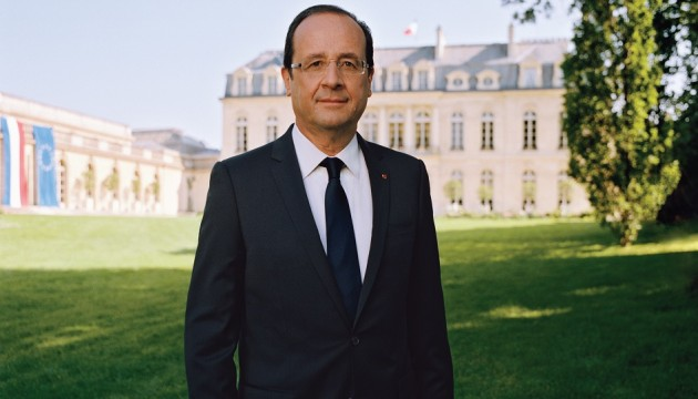 The official portrait of President Hollande